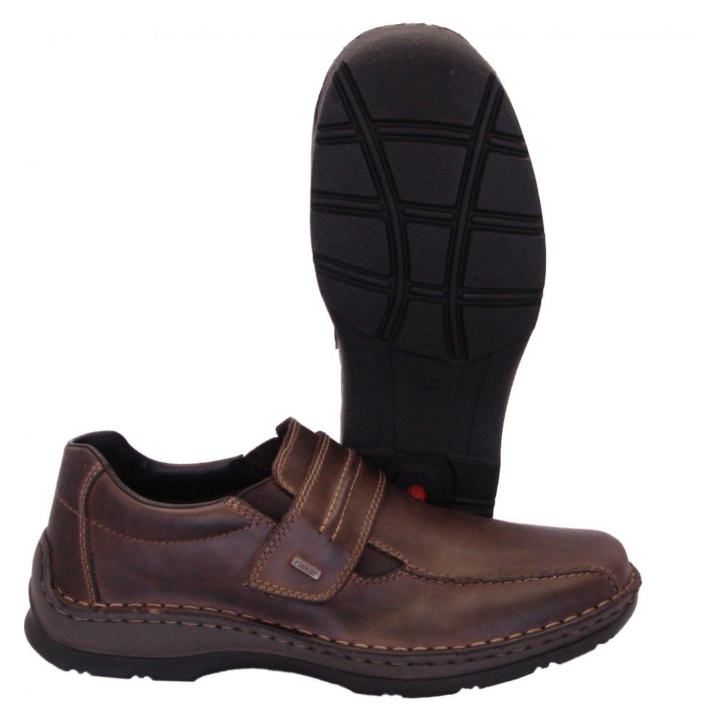 rieker anton mens casual wide fitting shoes in brown
