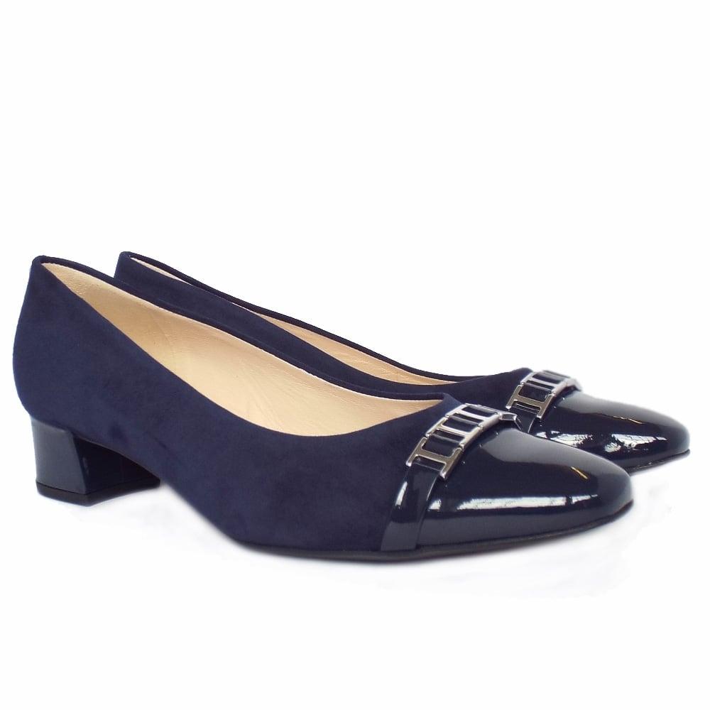 Dressy Low Heel Navy Shoes