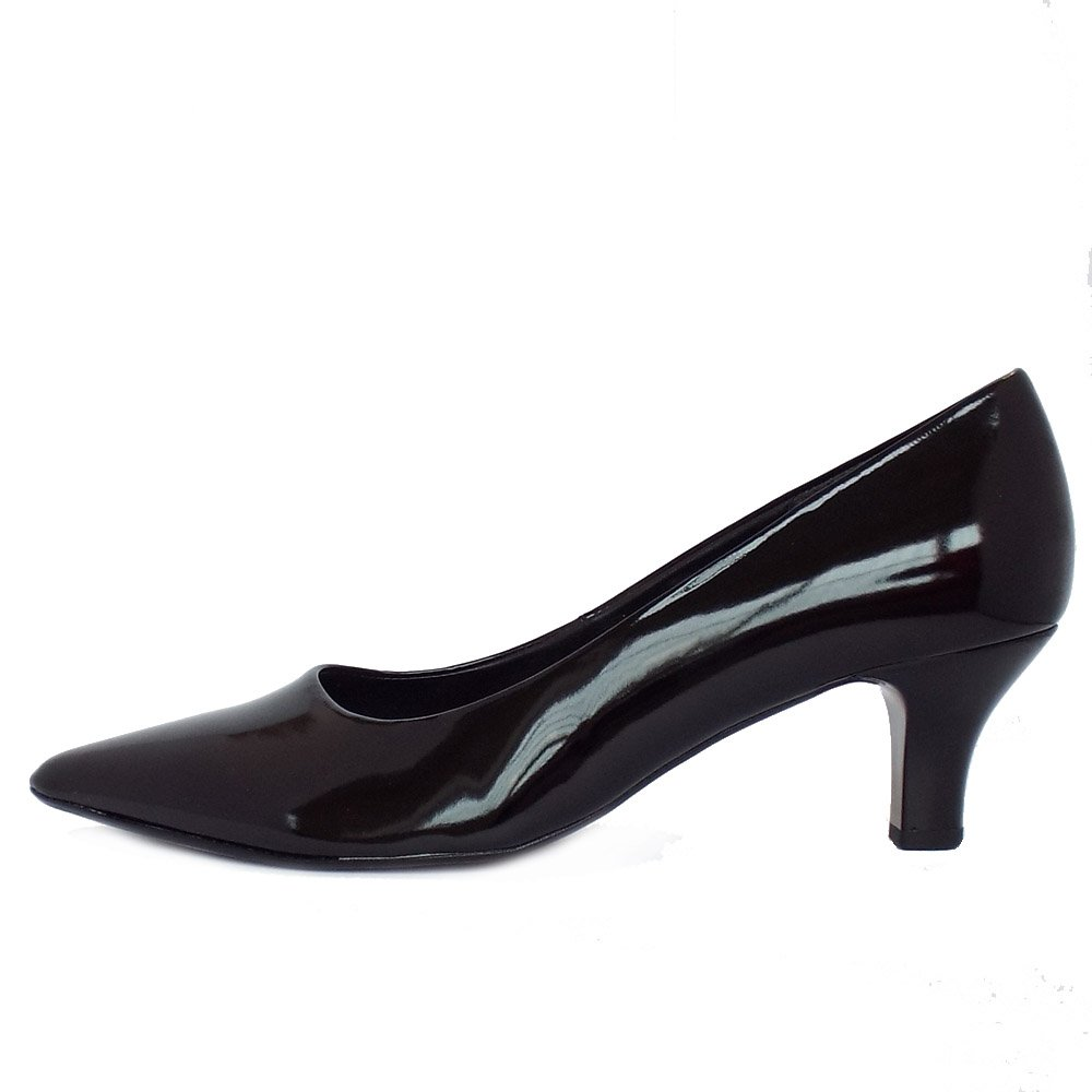 gabor shoes arnica black patent pointed toe classic