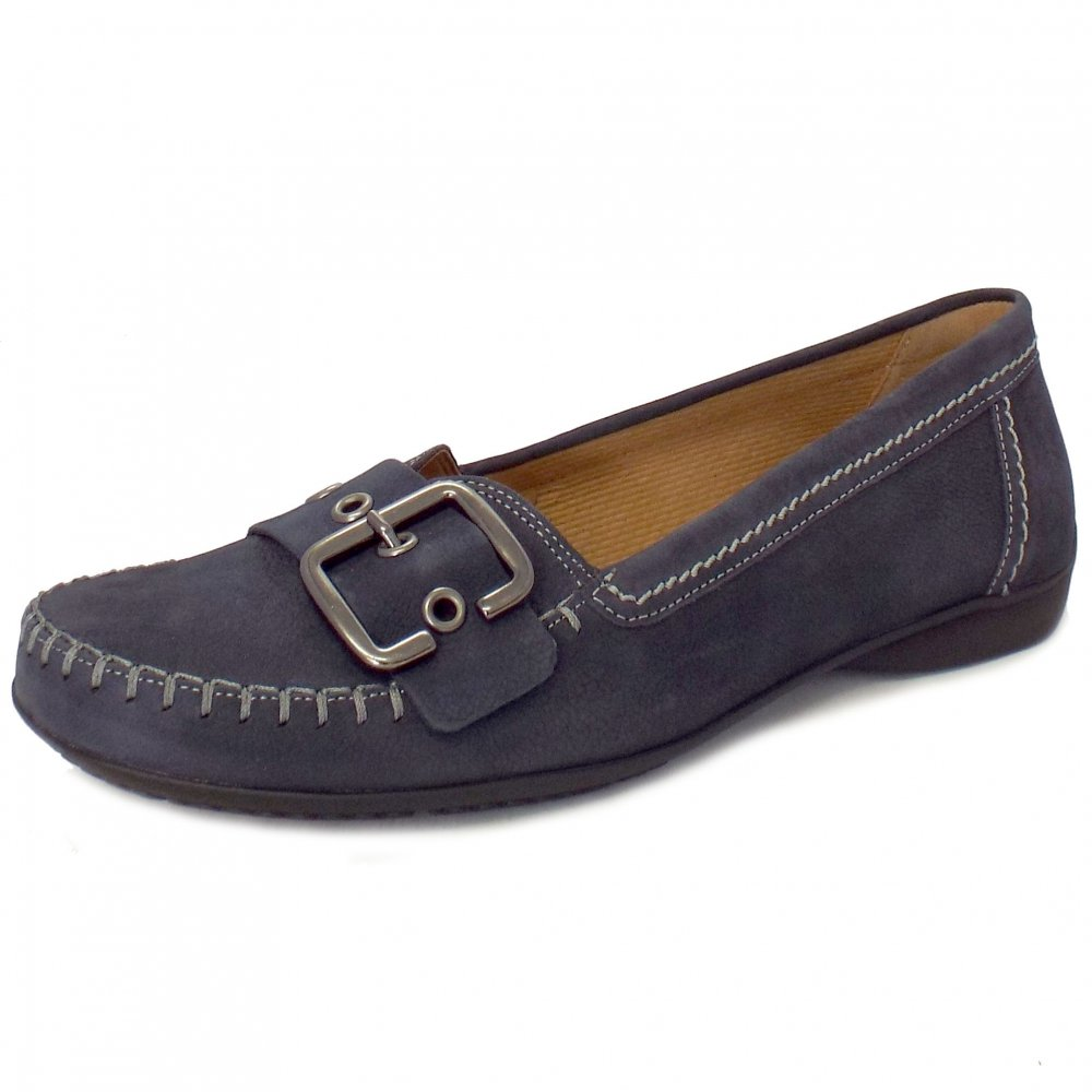 Blue Flat Shoes W