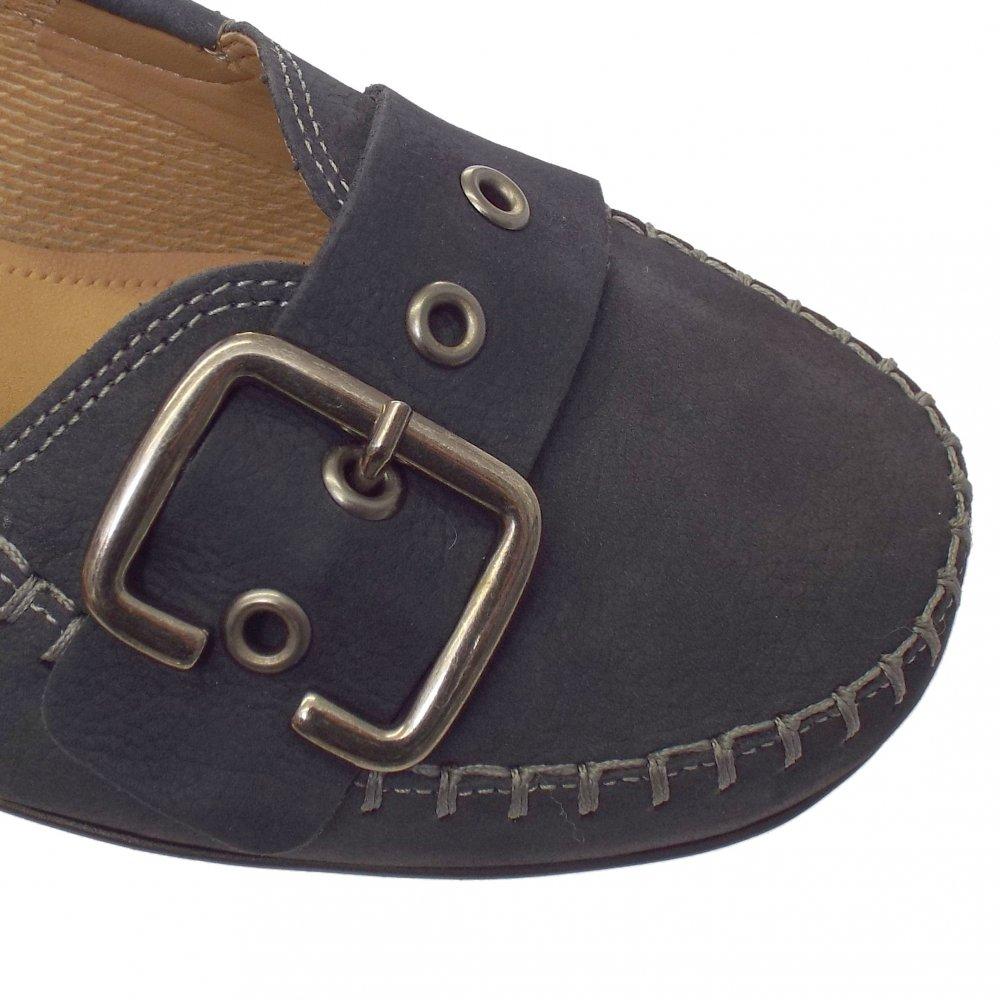 Ascari Womens Wide Fit Pump Shoe In Dark