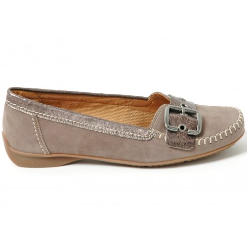 Ascari Casual Ballet Pump Shoe In Taupe