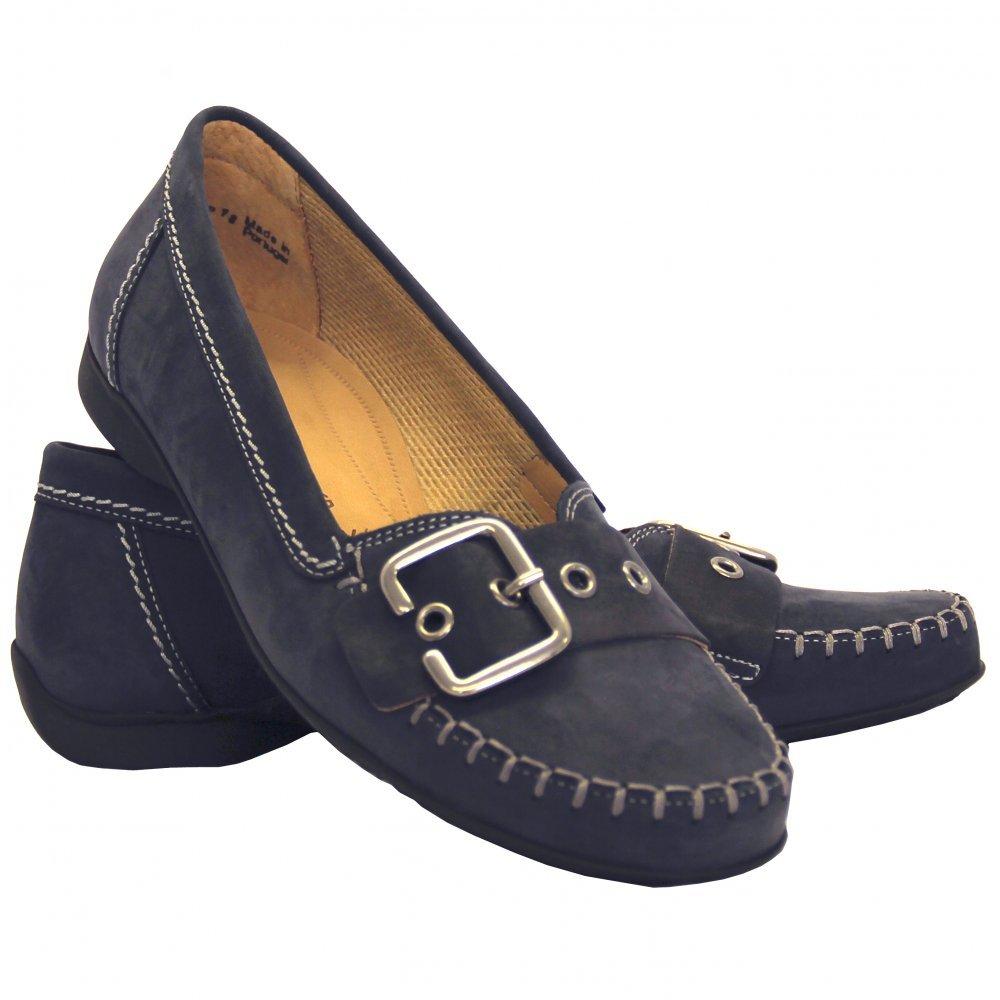 Womens Wide Fit Shoe In Blue