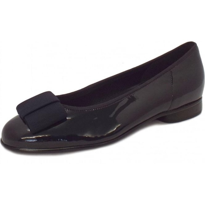 75f7fcab1a5eb Gabor Shoes | Assist Ladies Ballet Pump Shoe in Navy Patent | Mozimo