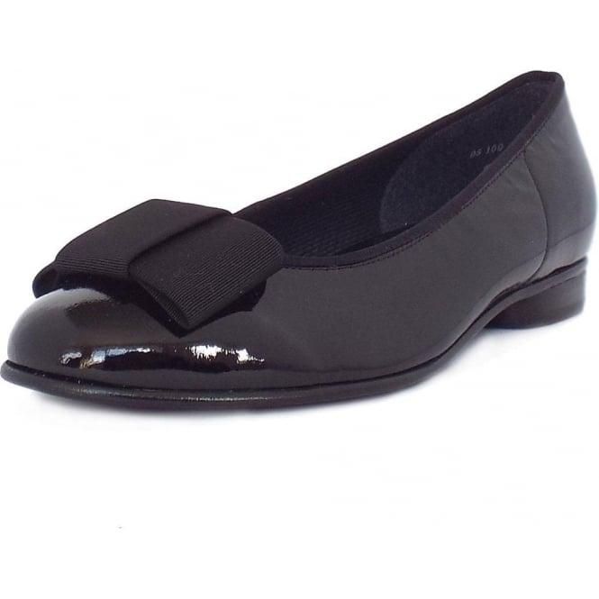 2cd2fb27e1d51 Gabor Shoes   Assist Womens Ballet Pump in Black Patent   Mozimo