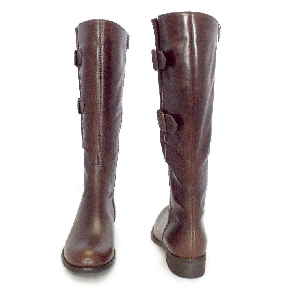 Raleigh knee High Boots Spruce up your new-season footwear rotation with these Raleigh knee high boots from Nine West. Also available in a brown tone, these leather boots are hallmarked by quintessential features such as a round toe and handy zip fastening.