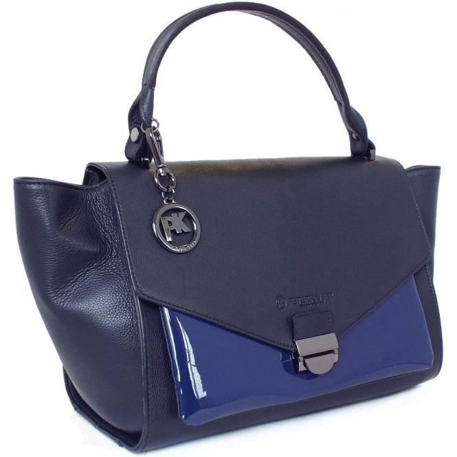 Handbag In Navy Peter Kaiser Astra women's designer handbag in navy ...