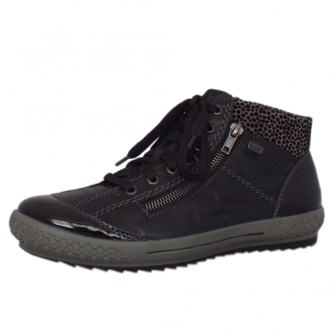 Rieker Avimore RiekerTex Sporty Ankle Boots in Black