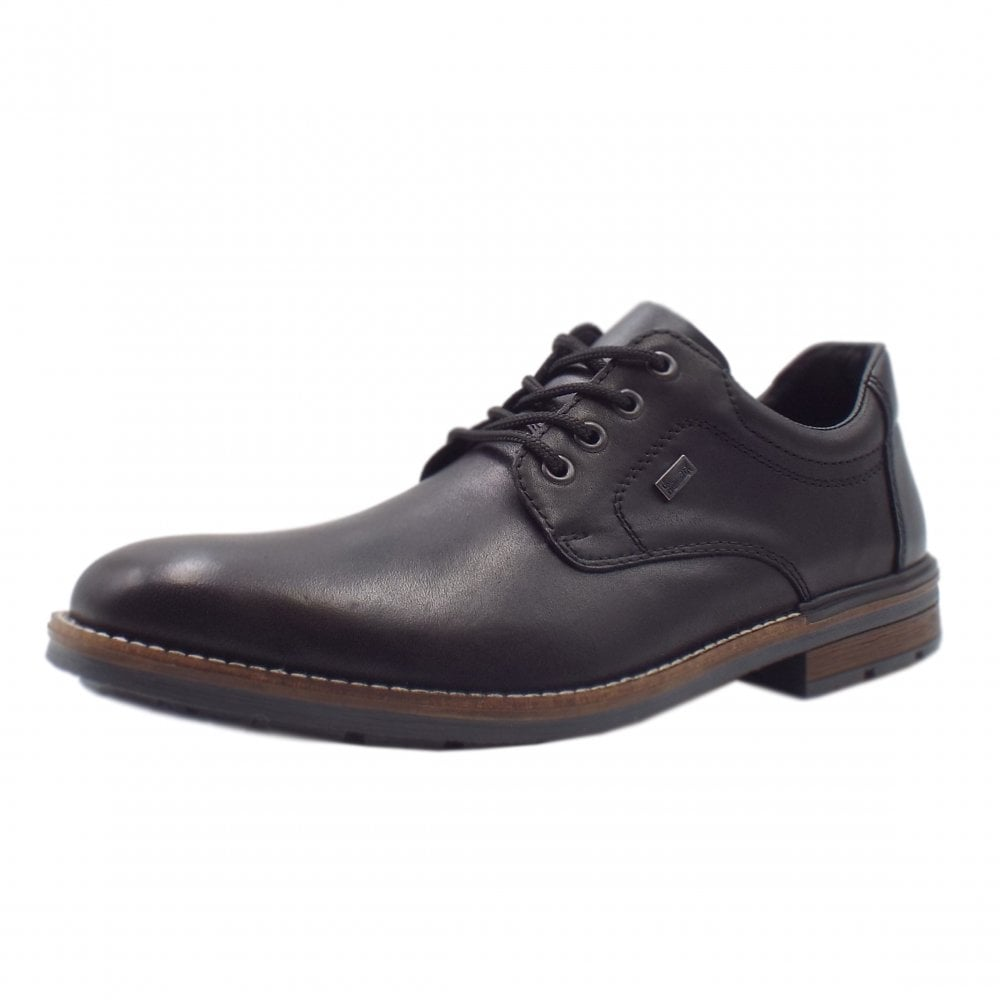 ce58e91a1d863 Rieker Shoes | Caddy Mens Lace-up Shoes in Black Leather | Mozimo