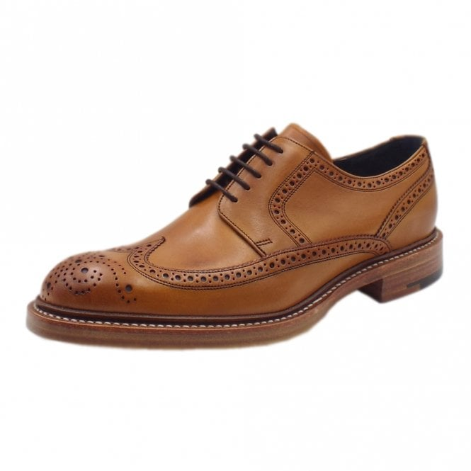 Barker Bailey 2 Men's Smart Wingtip Brogue Shoes in Cedar