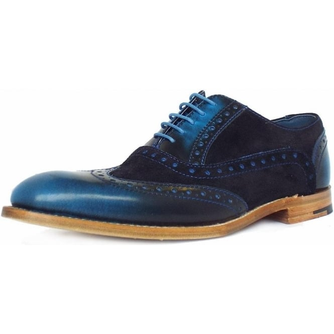 Barker Grant Blue Shine Men S Modern Brogues In Blue