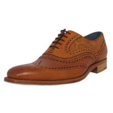 McClean Men's Smart Formal Brogues in Cedar/Paisley