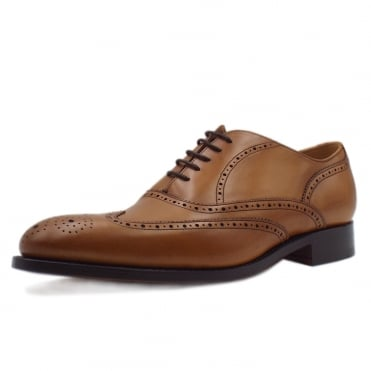Newport Men's Smart Wingtip Brogue Shoes in Cedar