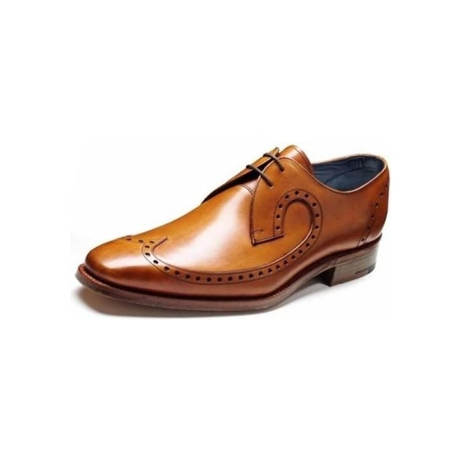 Barker Woody Mens Formal Lace-Up Shoes In Cedar Calf Leather