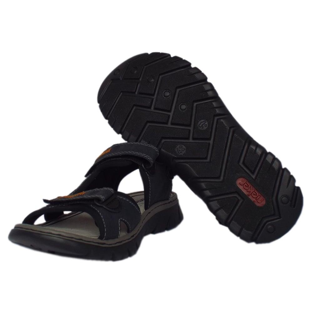 rieker sandals basque mens sport sandal in navy mozimo