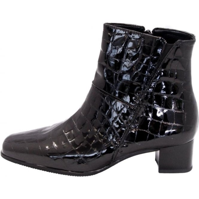 42285fd96 Gabor Boots | Bassanio Ladies Wide Fit Ankle Boot in Black | Mozimo