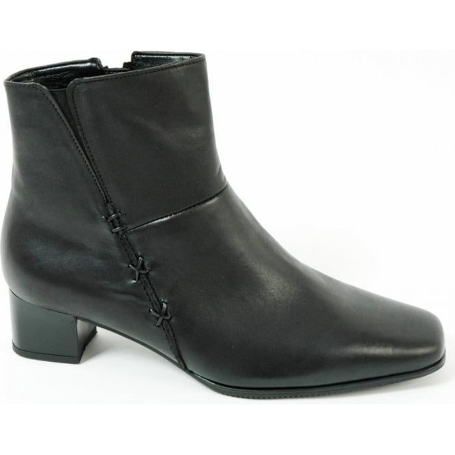 4c456a9c432 Gabor Bassanio Wide Fit Plain Leather Ankle Boots In Black