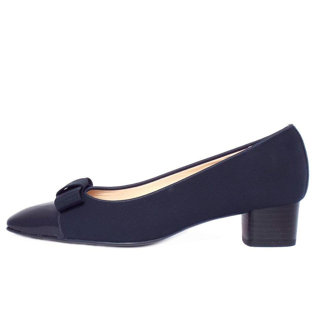 Leather Low Heel Court Shoe