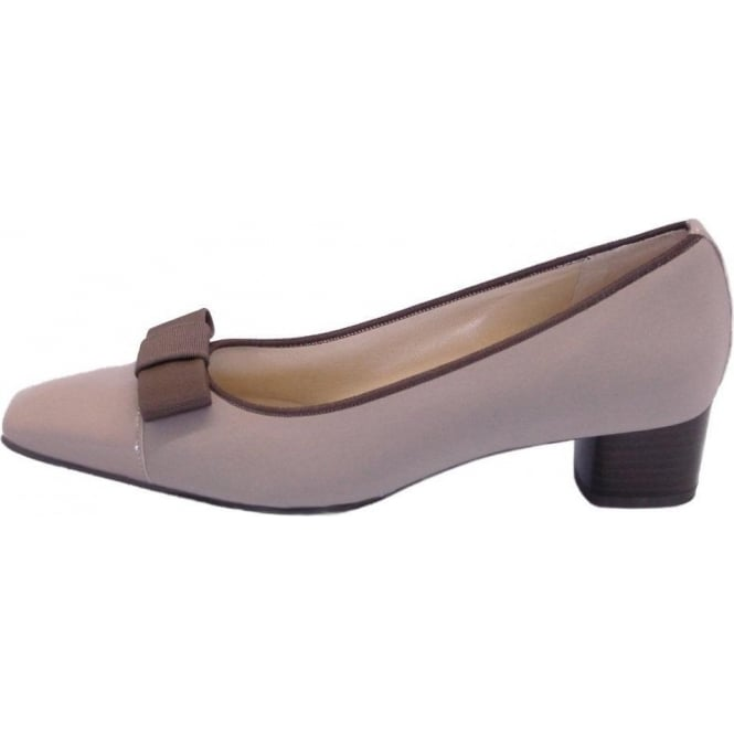 b8571308b390d Peter Kasier Beli low heel court shoes in taupe | Low heel, square ...