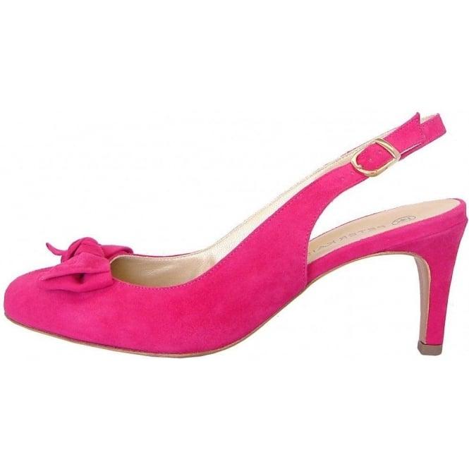 727027caeeb7 Berny dressy sling back mid heel shoes in pink suede