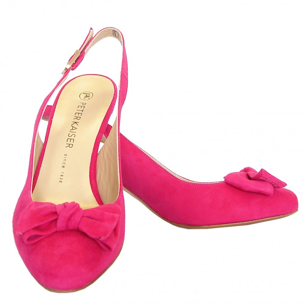 Peter Kaiser Berny Sling Back Mid Heel Shoes In Pink