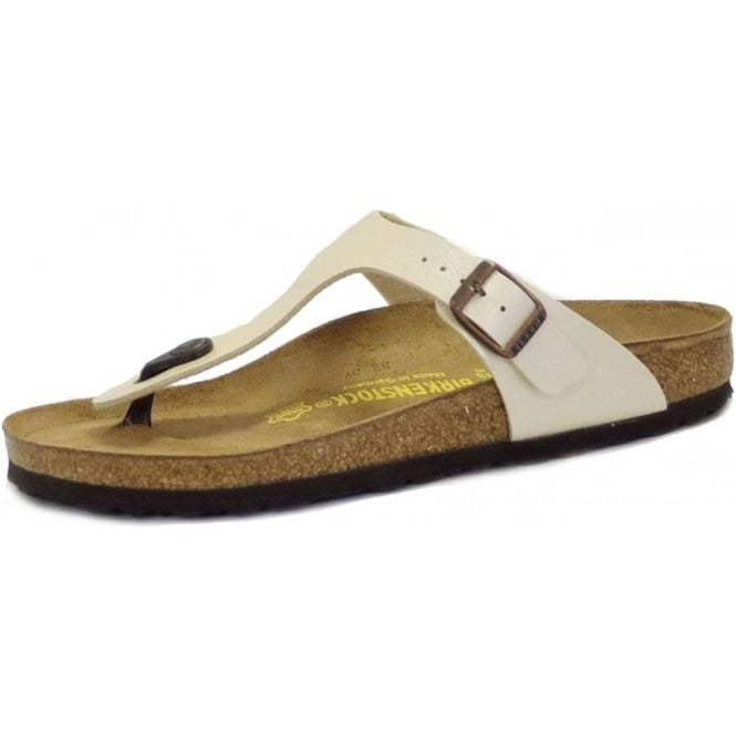 6f326552739 Gizeh Thong Sandals in Pearl White