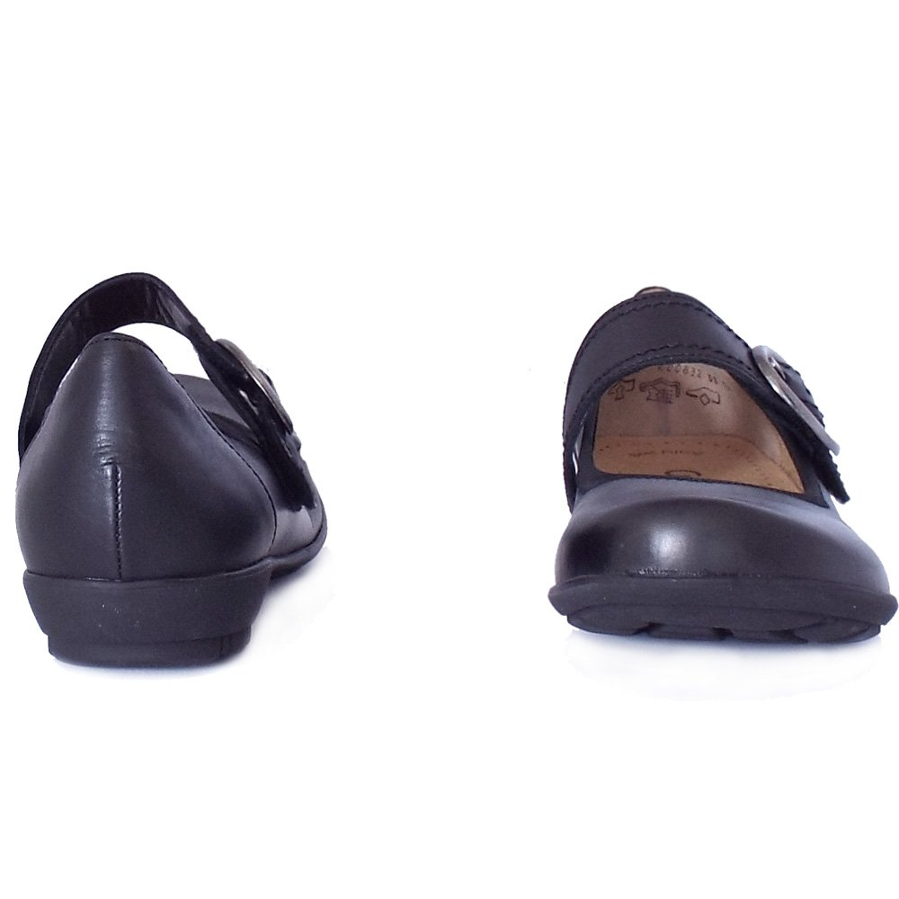 gabor biss comfortable flats in black mozimo