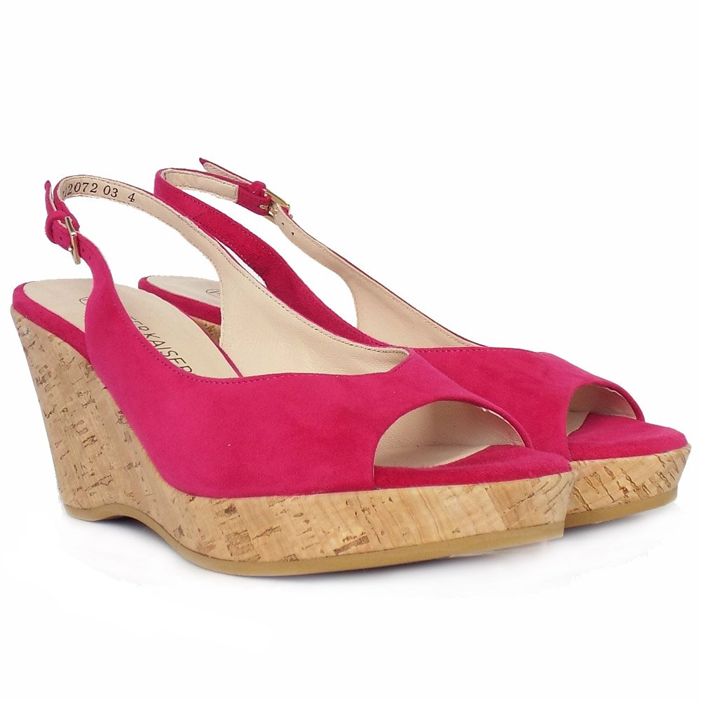 Womens Pink Wedge Shoes