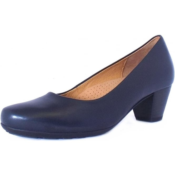 Gabor Brambling Formal Low Heel Pumps in Navy
