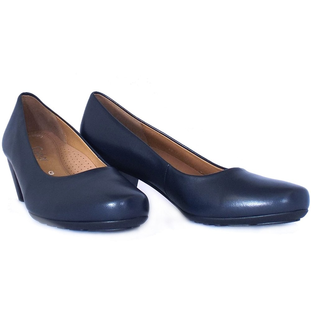 Navy Blue Low Heel Shoes - Is Heel