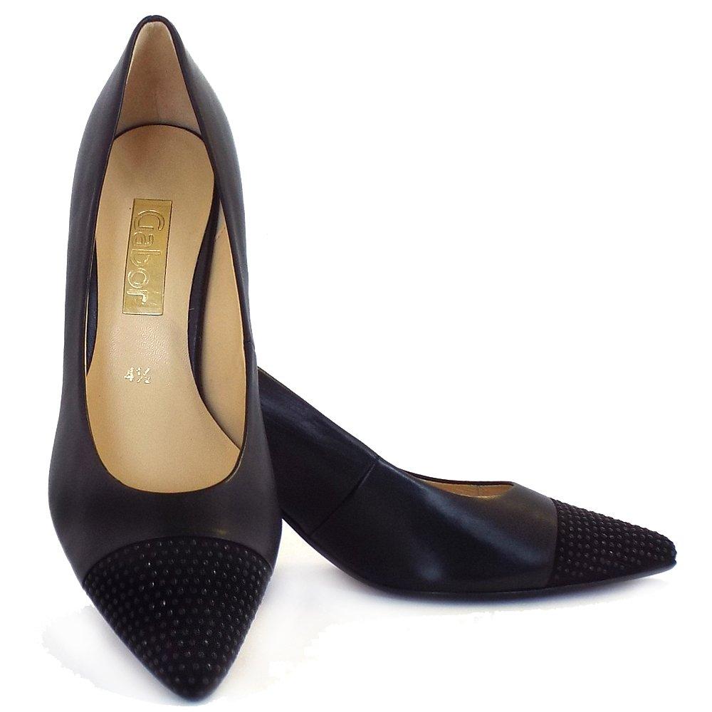 Black Suede Cone Heel Shoes