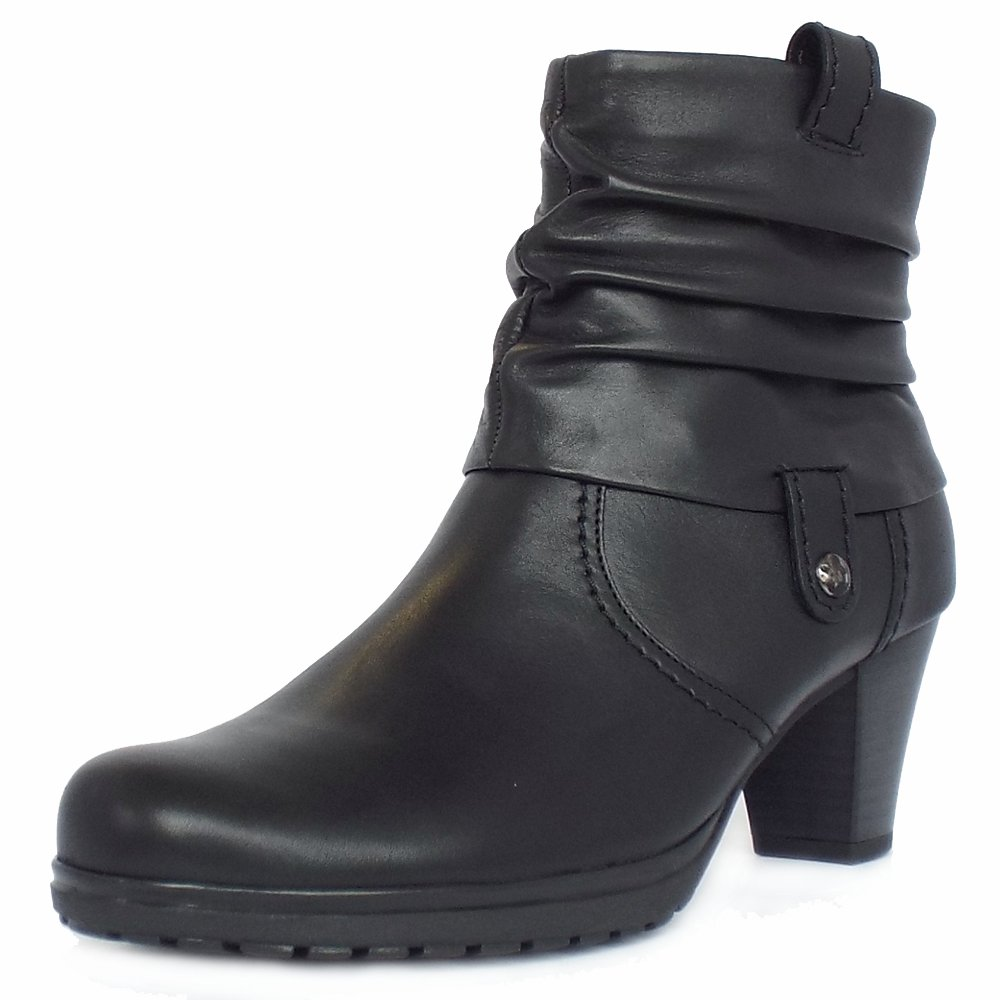 gabor boots brignall black leather ankle