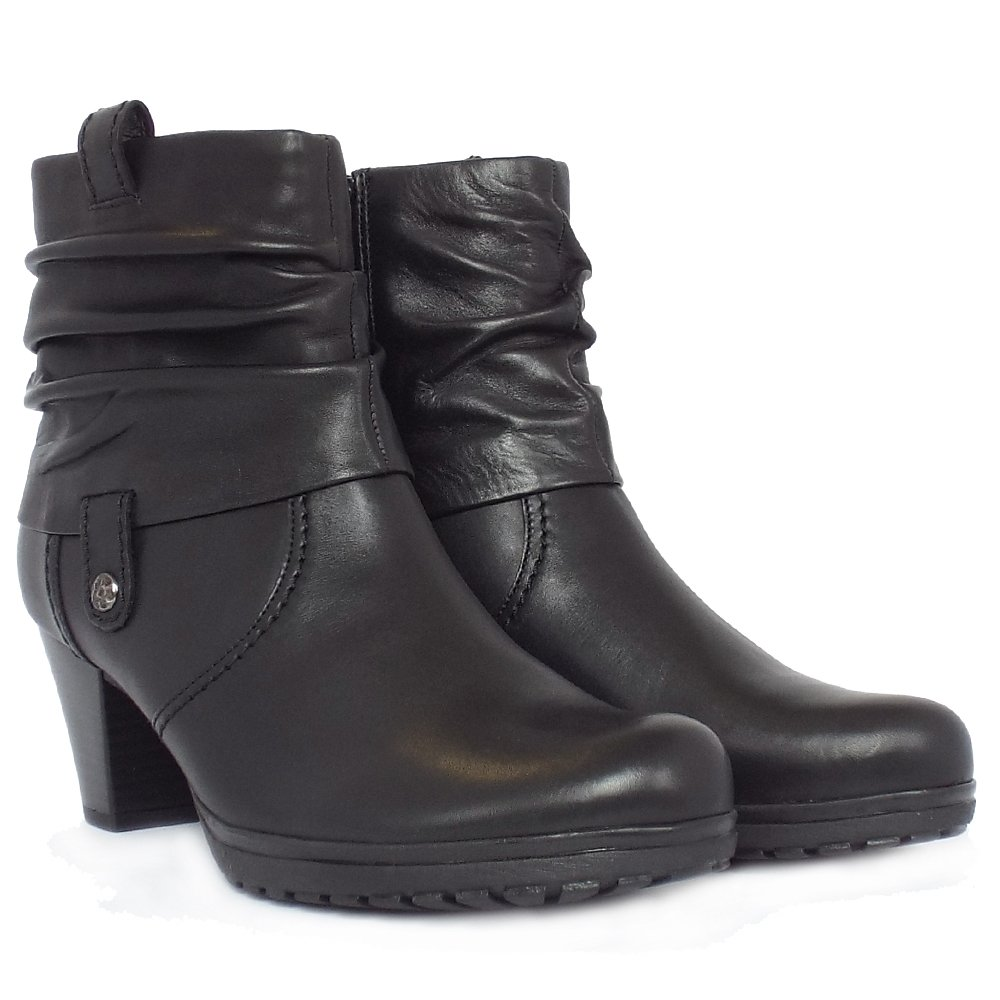 Gabor Short Boots | Brignall Ladies Black Leather Ankle Boot | Mozimo