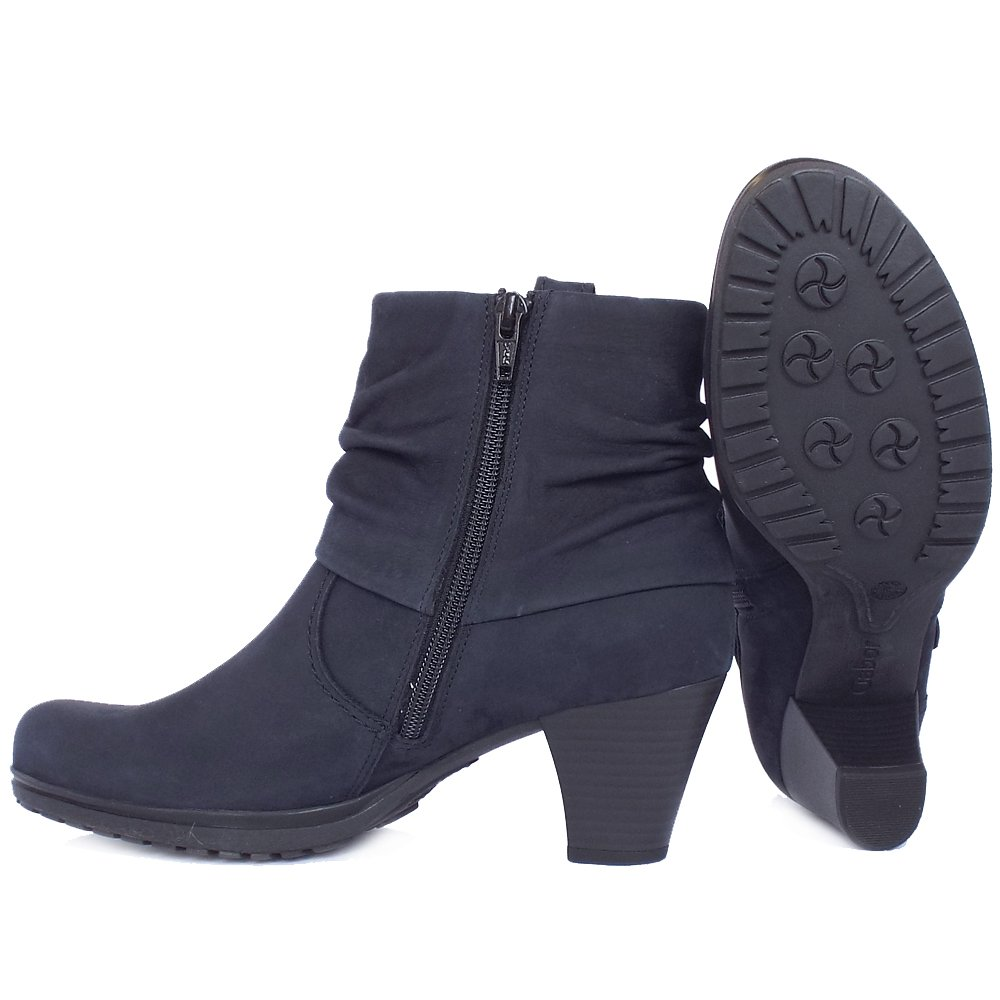 Gabor Short Boots | Brignall Ladies NAvy Nubuck Ankle Boots | Mozimo
