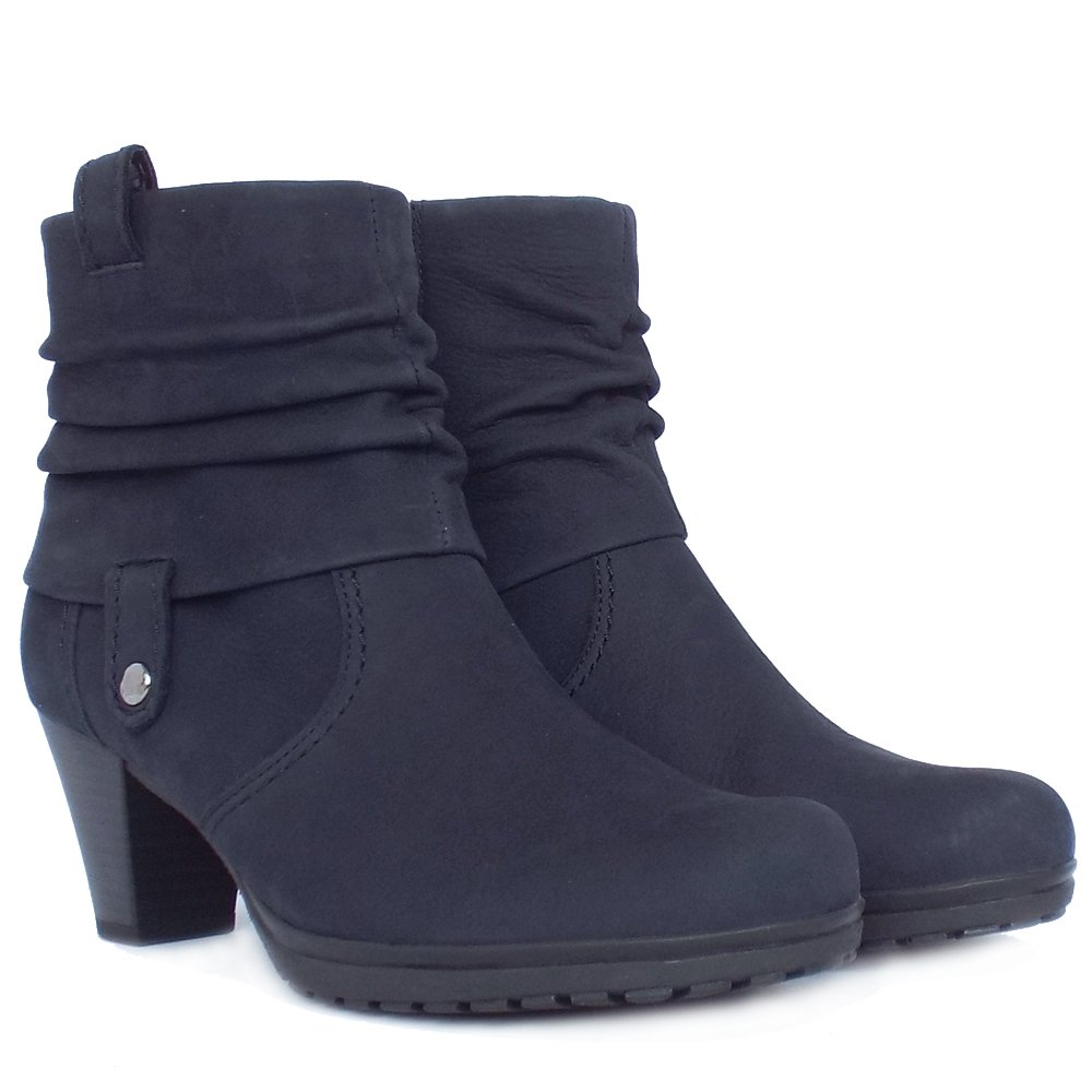 gabor short boots brignall ladies navy nubuck ankle. Black Bedroom Furniture Sets. Home Design Ideas