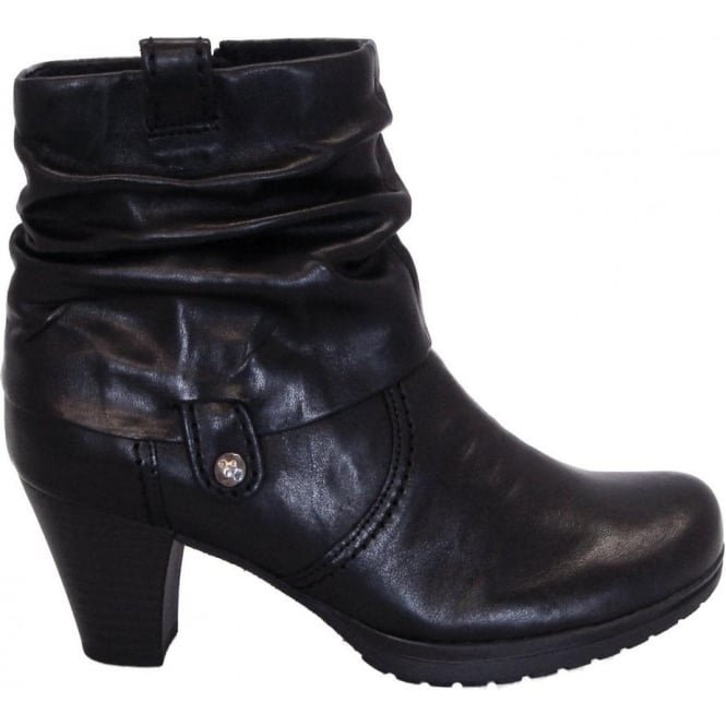 Gabor Brignall Modern Ankle Boot In Black Leather