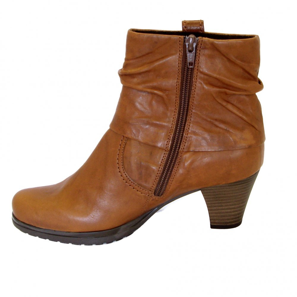 gabor boots brignall womens ankle boot in copper leather. Black Bedroom Furniture Sets. Home Design Ideas