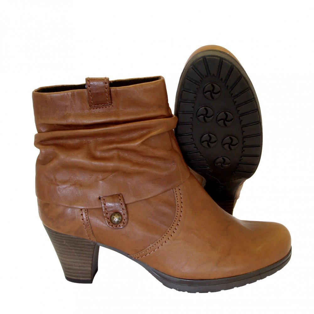 Womens Brown Leather Ankle Boots - Yu Boots