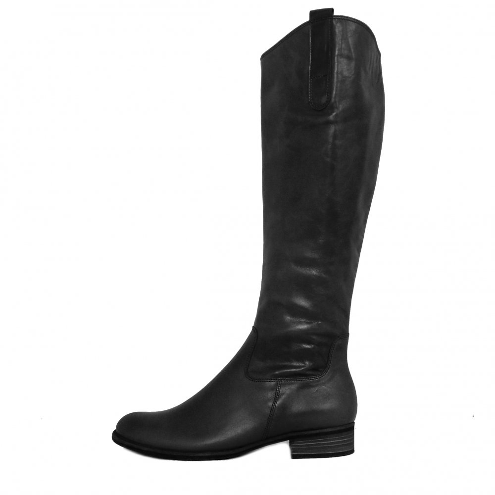 Gabor Boots Brook Knee High Black Leather Ladies Boots