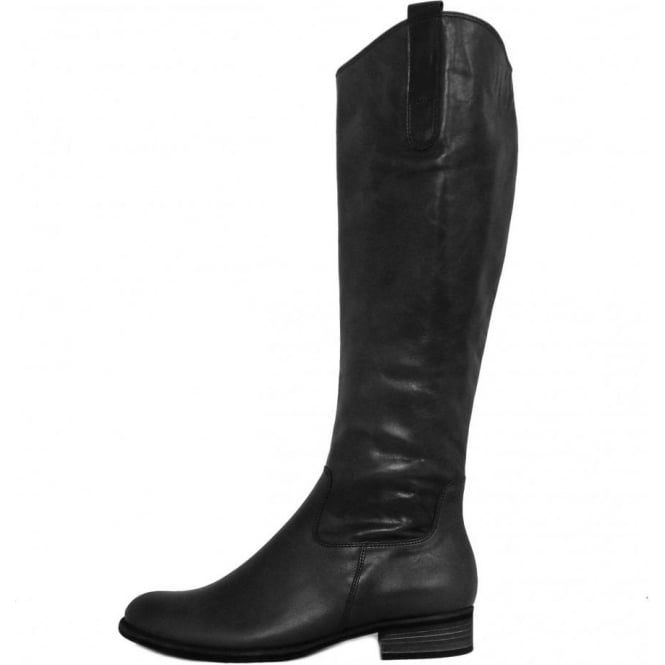 1402f835110 Gabor Brook Ladies Riding Style Long Boots in Black Leather