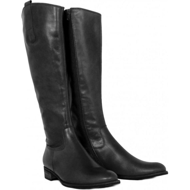 ce2484f34b7 Gabor Brook Ladies Riding Style Long Boots in Black Leather