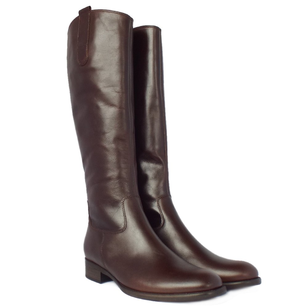 gabor boots brook knee high brown leather boots