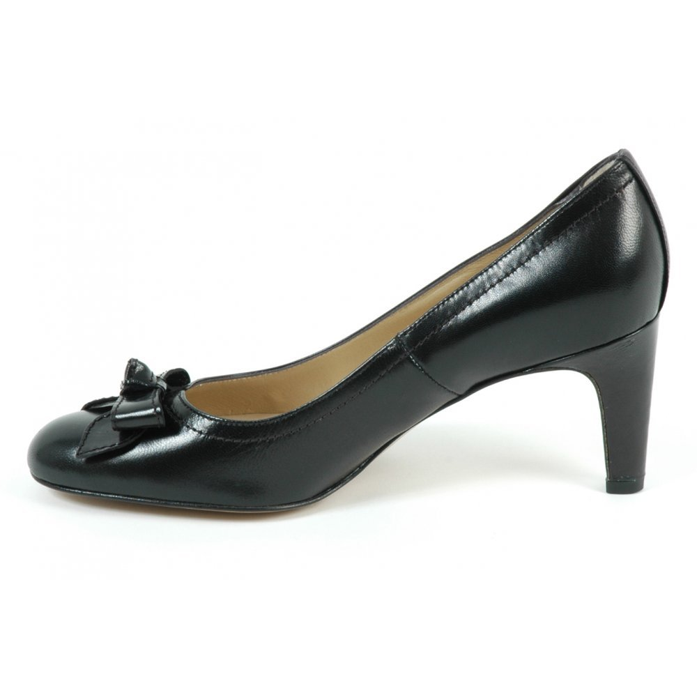 kaiser womens court shoes in black leather