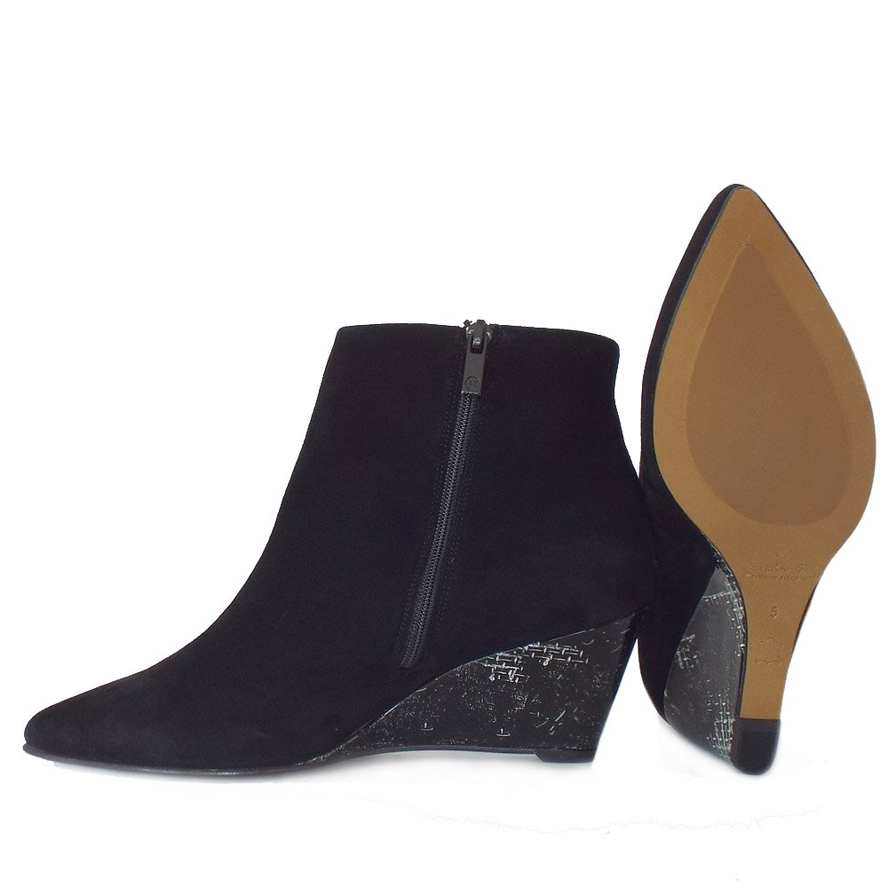 Black Wedge Ankle Boots For Women - Boot 2017