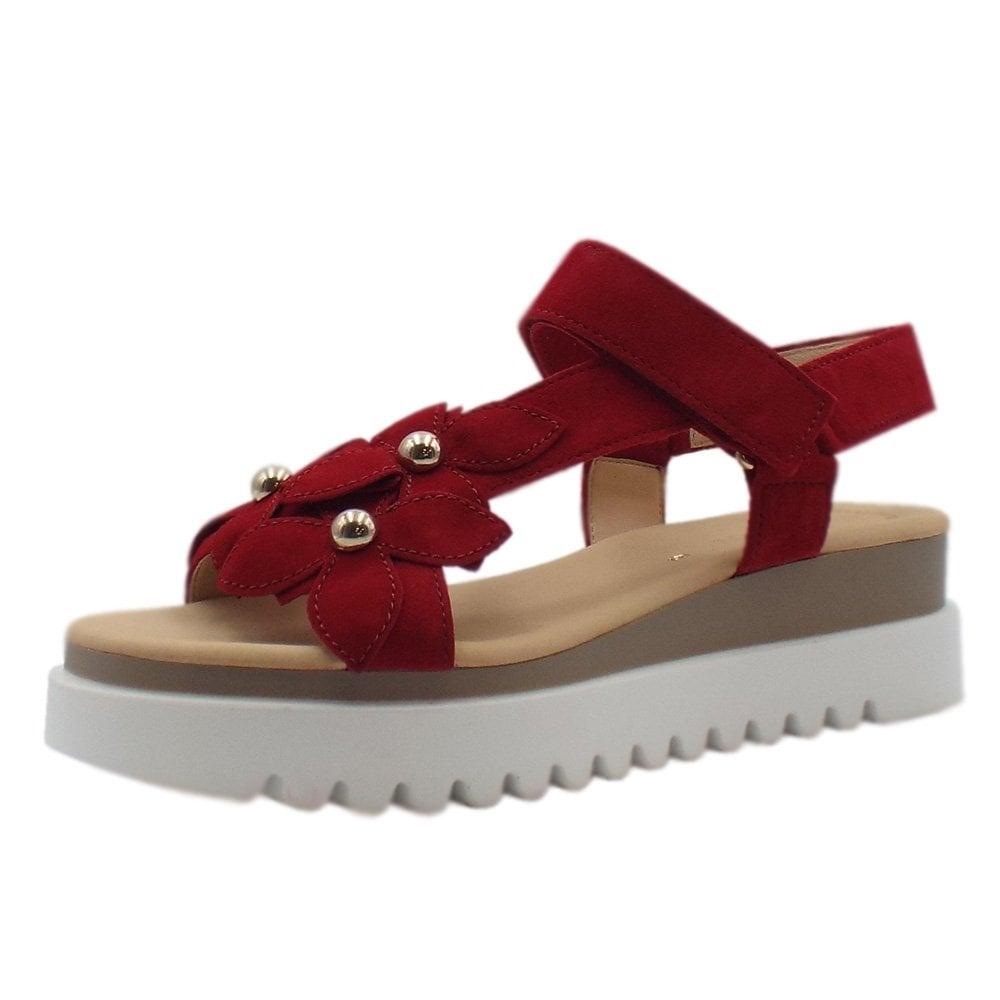Professionel weltweite Auswahl an billigsten Verkauf Bryce Comfortable Fashion Sandals in Red Suede