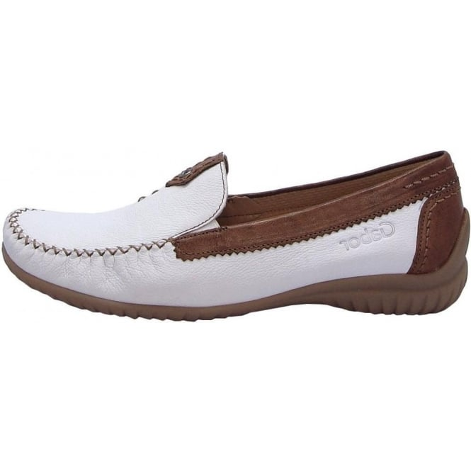 70386358a89 California Ladies Wide Fit Loafer In White  amp  ...