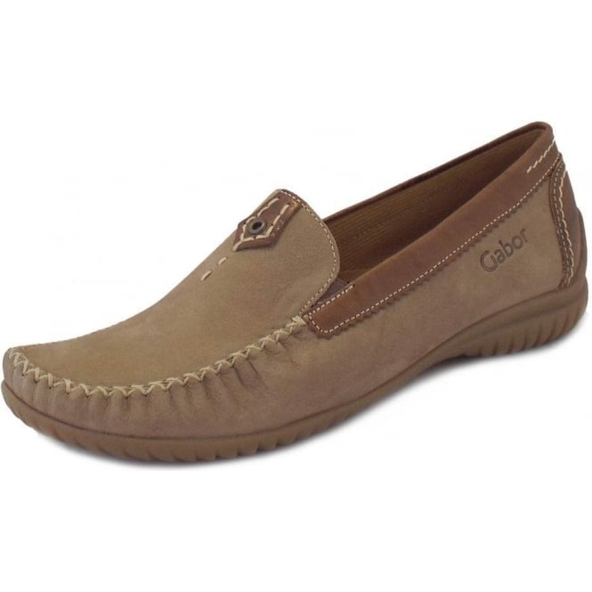 fe09f7d6dbe California Ladies Wide Fitting Loafer In Beige