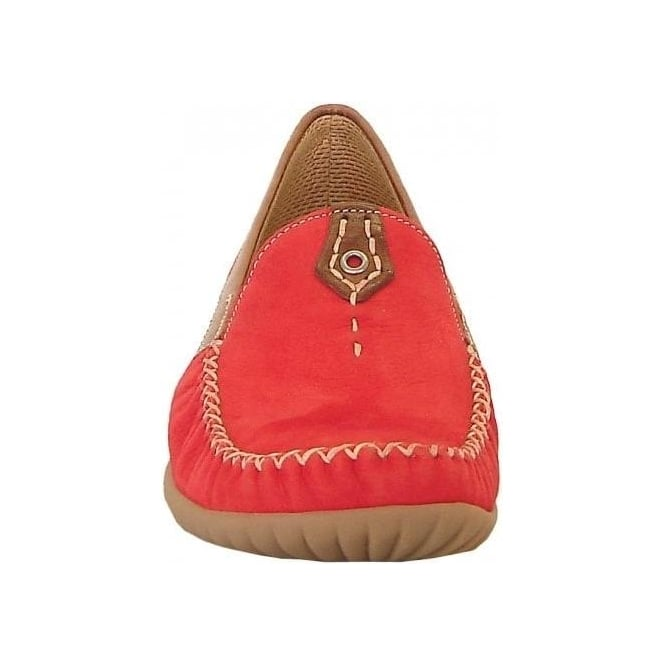 cda516e269b California Ladies Wide Fitting Loafer In Red