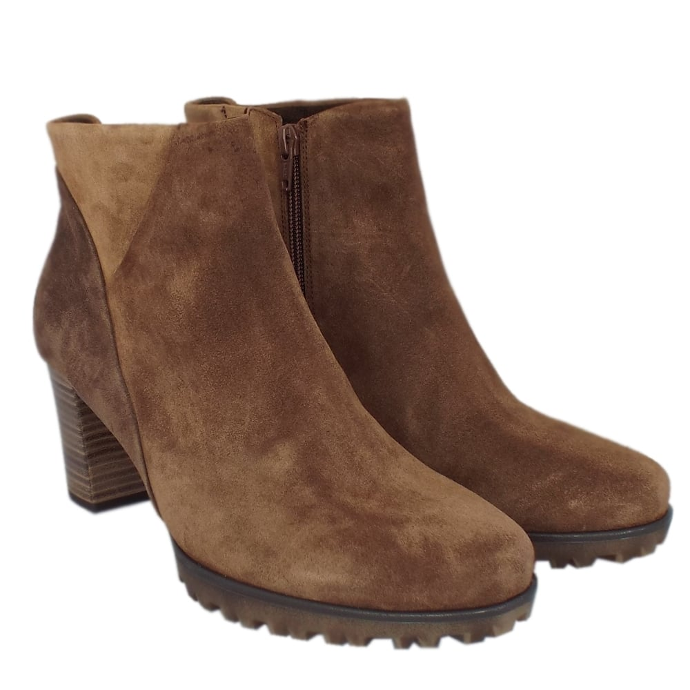 gabor calista s trendy sporty ankle boots in brown