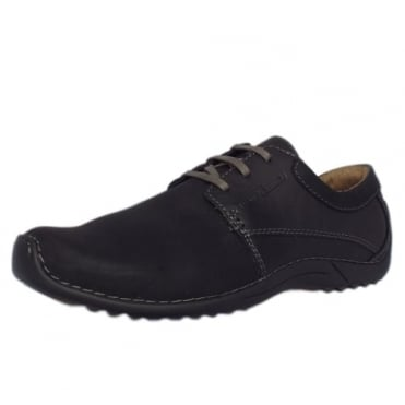 Bourne Manila Men's Nubuck Casual Shoes in Black
